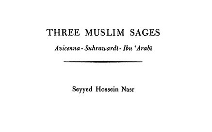 Three Muslim Sages Nasr